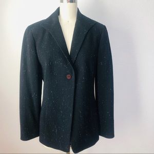 LAFAYETTE 148 Black Wool, Silk Blend Blazer/Jacket
